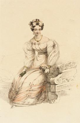 1826 Evening Dress, Rudolph Ackermann plate