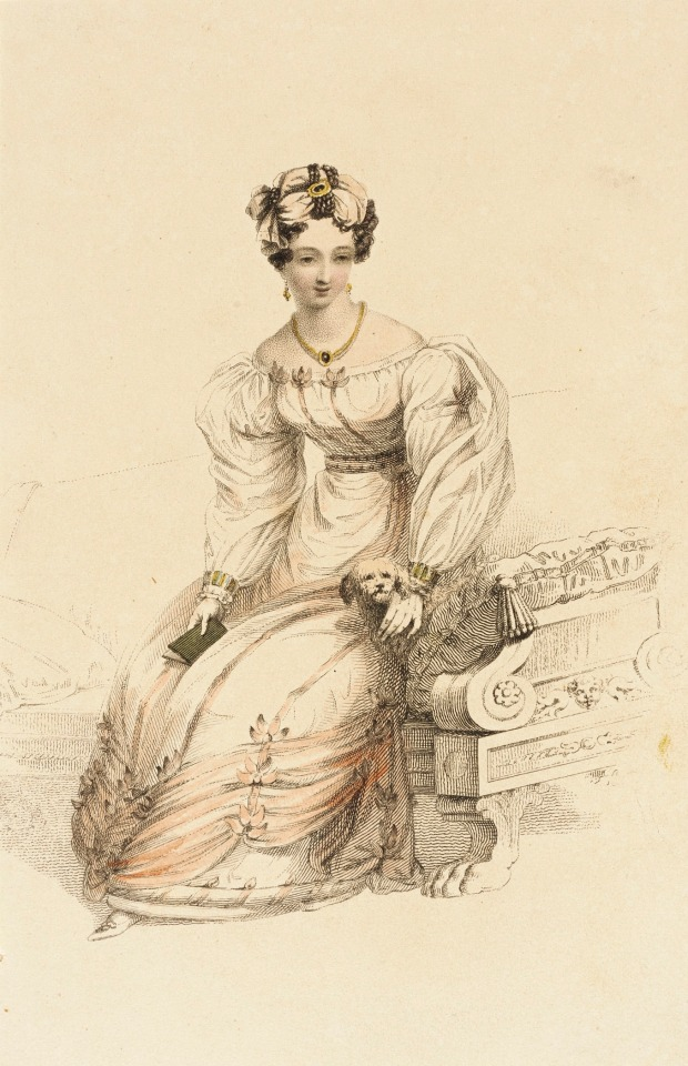 1826 Evening Dress, Rudolph Ackermann plate