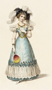 1827 Evening Dress,(Rudolph Ackermann Plate.)