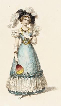 1827 Evening Dress,(Rudolph Ackermann Plate.)