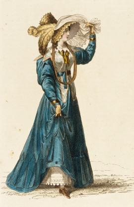 1827 Promenade Dress.(Image via LACMA.)