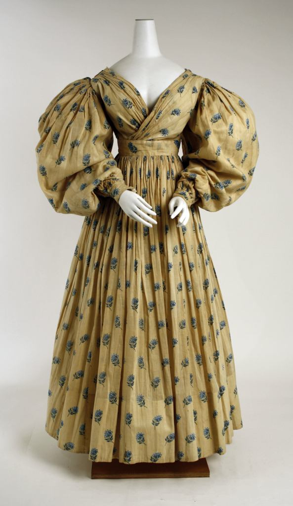 1829 British Cotton Dress.<BR<(Image via Met Museum)
