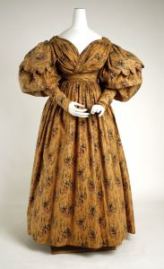 1830 British Cotton Walking Dress.(Image via Met Museum)