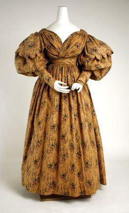 1830 British Cotton Walking Dress.(Image via Met Museum)