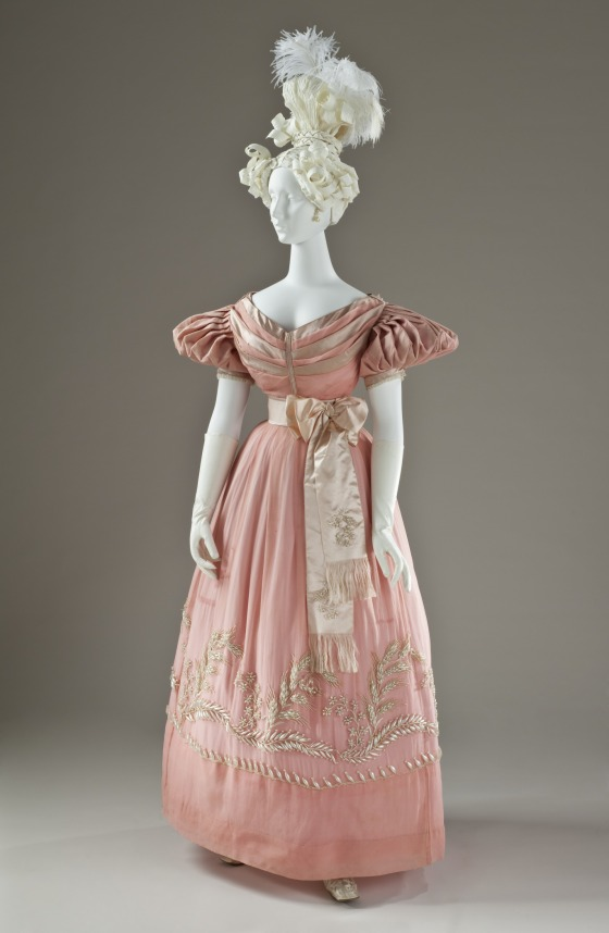 1830 British Silk Dress.(Image via LACMA)