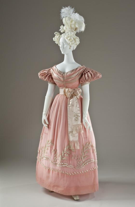 1830 British Silk Dress.(Image via LACMA)