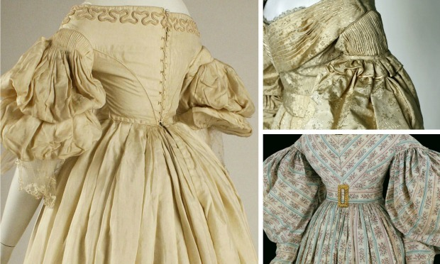 Individual Images of Gowns via Met Museum and V&A Museum.