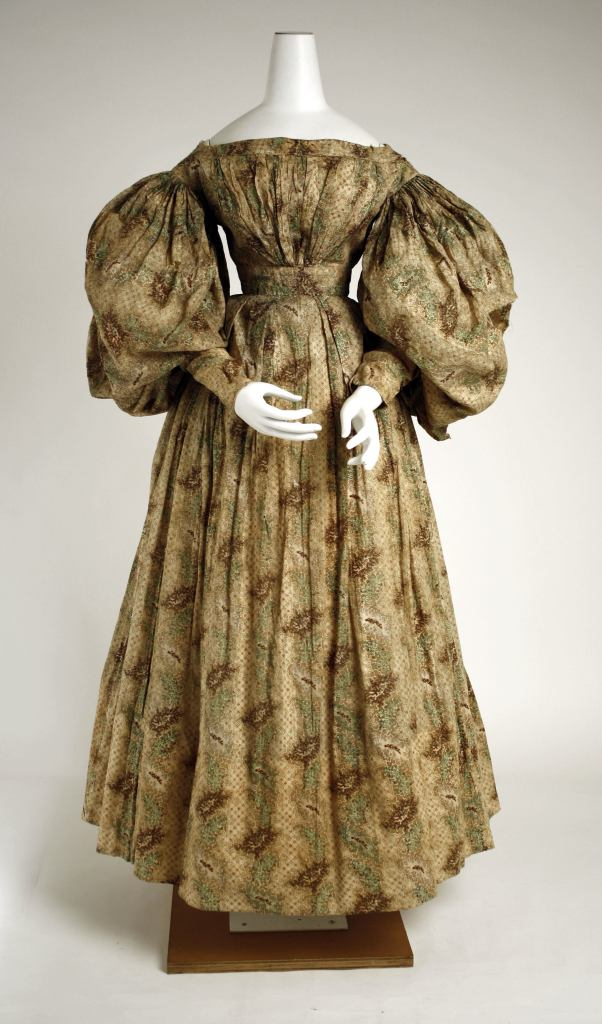 1832 American Cotton Day Dress. (Image via Met Museum)