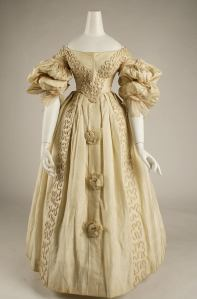 1832 British Silk Gown.(Image via Met Museum)