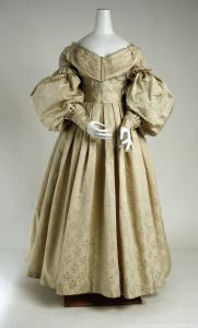 1835 British Silk and Wool Evening Dress.(Image via Met Museum)