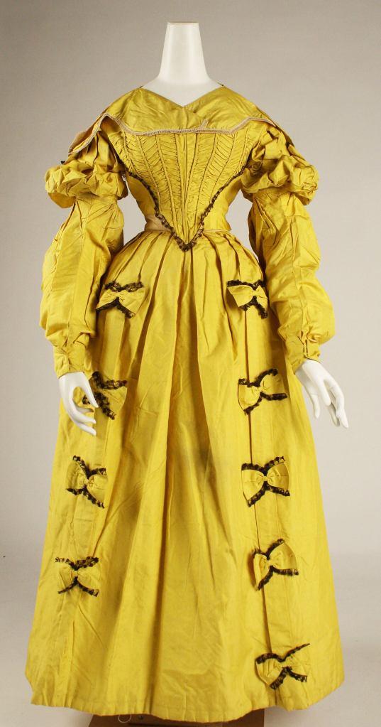 1836 British Silk Dress.(Image via Met Museum)