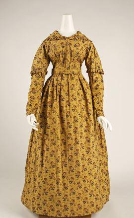 1840 British Cotton Dress.(Image via Met Museum)