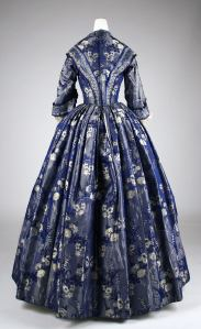 1842 British Silk Dress.(Image via Met Museum)