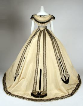 1864 Emile Pingat French Silk Ballgown.(Image via Met Museum)