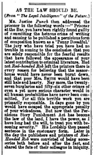 As the Law Should Be, Punch, 1895.