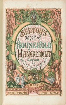 Beeton's Book of Household Management Original Title Page, 1861. (Image via Wellcome Library.)