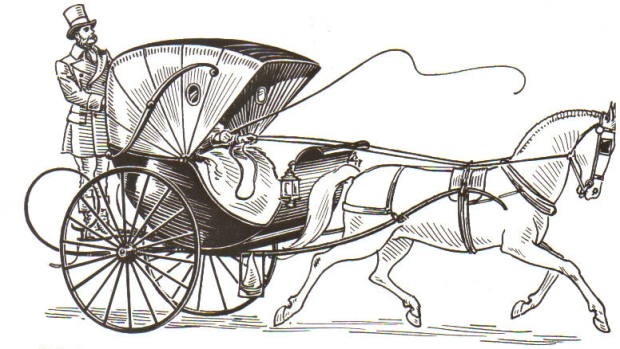 19th Century Cabriolet Carriage.(Iimage via Pearson Scott Foresman.)