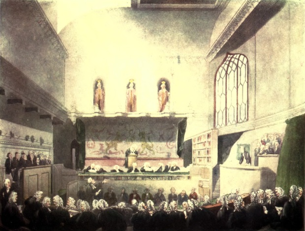 Court of King's Bench, Westminster Hall, 1808.(Microcosm of London.)