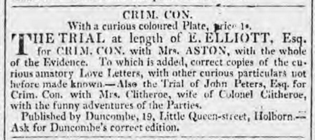 Morning Chronicle , London, England, December. 19, 1818.