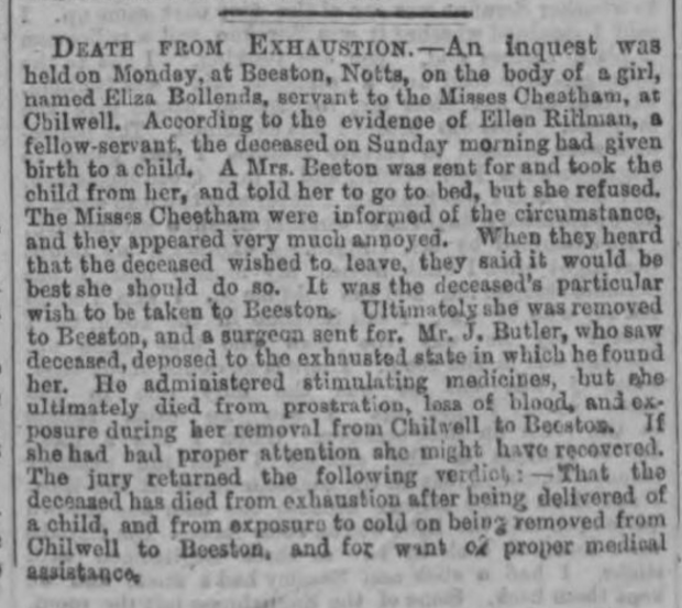 London Evening Standard, April 13, 1865.