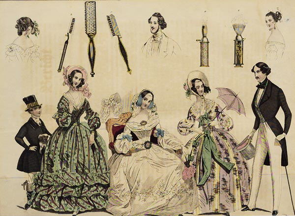Fashion Costumes and Accessories for 1839.