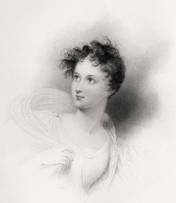 Lady Charlotte Mary Bacon, née Harley, as Ianthe by R. Westall, 1833.