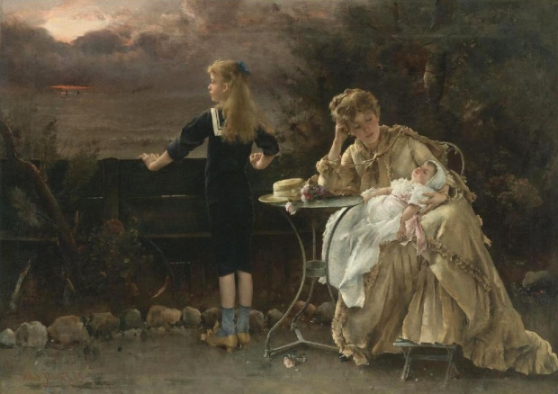 Mother and Her Children by Alfred Stevens, 1883.