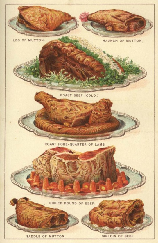 Beeton's Book of Household Management, Coloured Plate.