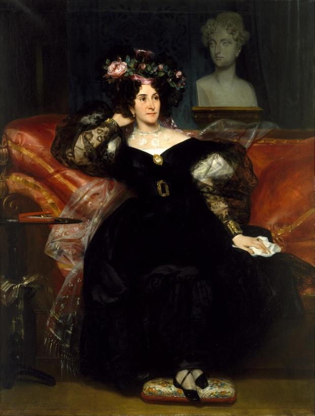 Portrait of Mme. Jules-Antoine Droz by Eugène Devéria, 1833.