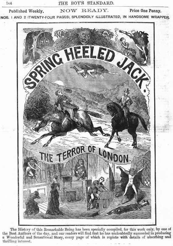 Spring Heeled Jack, Penny Dreadful, 1886