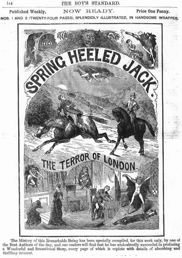 Spring Heeled Jack, Penny Dreadful, 1886