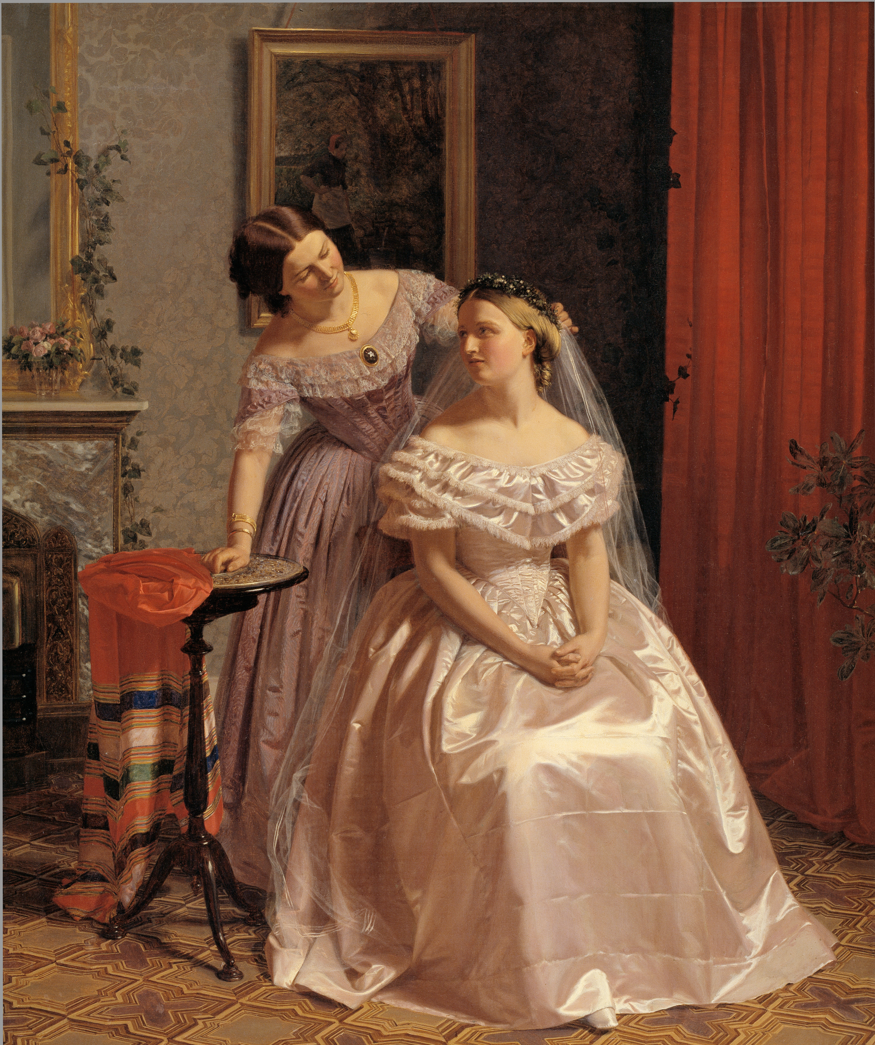 th century marriage manuals advice for young wives mimi matthews the bride adorned by her friend by henrik olrik 1850