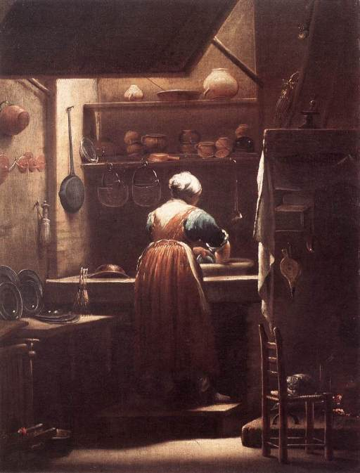 The Scullery Maid by Giuseppe Crespi, 1710-15.