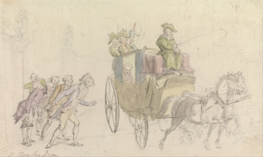 The Vicar of Wakefield, Attendance on a Nobleman by Thomas Rowlandson, 1817.