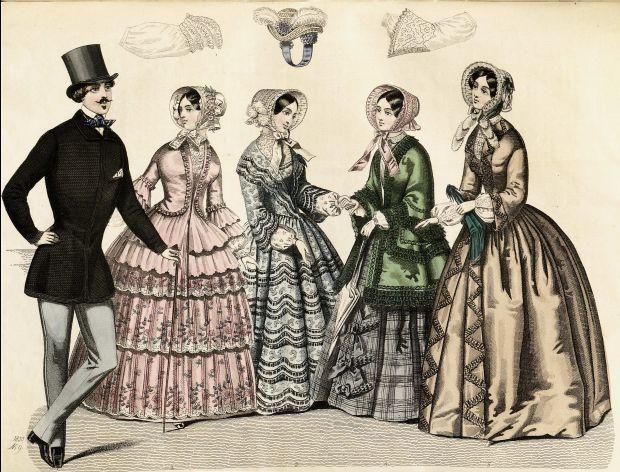 1850 Stockholms Mode-Journal Illustration.