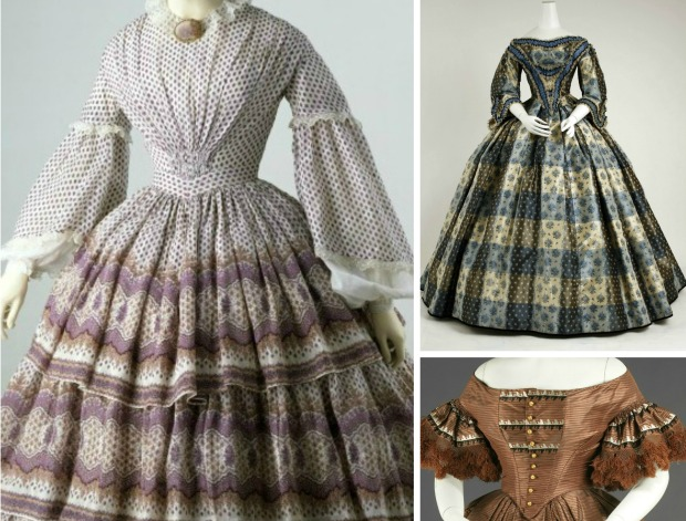 <Individual Images of Gowns via V & A Museum and Met Museum.)