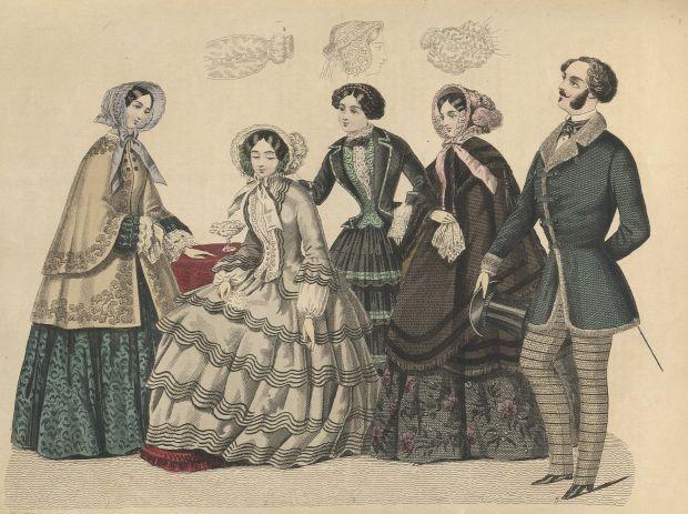 1852 Stockholms Mode-Journal Illustration.