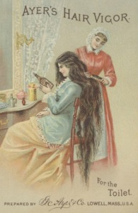 Ayer's Hair Vigor, 19th Century Advertisement.