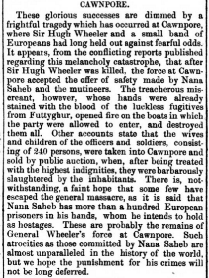 Sheffield Daily Telegraph, August 31, 1857.(©2015 British Newspaper Archive)