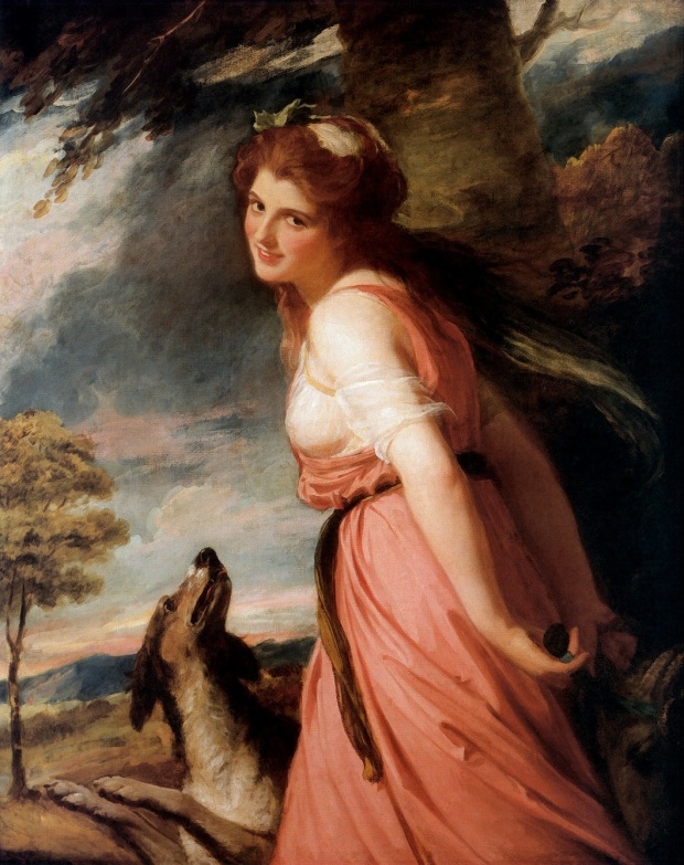 Lady Hamilton as Bacchante by George Romney, 1784.