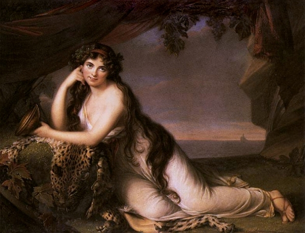 Lady Hamilton as Ariadne by Elisabeth Vigée-Lebrun, 1789.