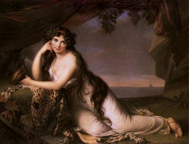 Lady Hamilton as Ariadne by Elisabeth Vigée-Lebrun, 1789.