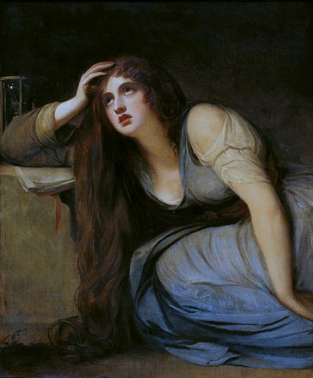 Lady Hamilton as The Magdalene by George Romney, 1792.