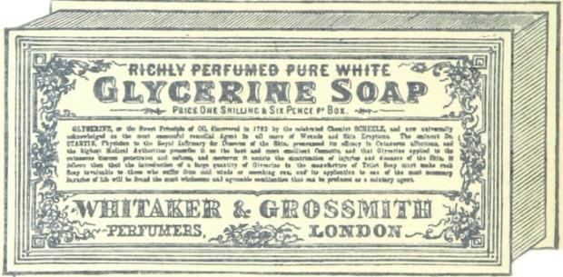 Perfumed Glycerine Soap, 19th Century advertisement.