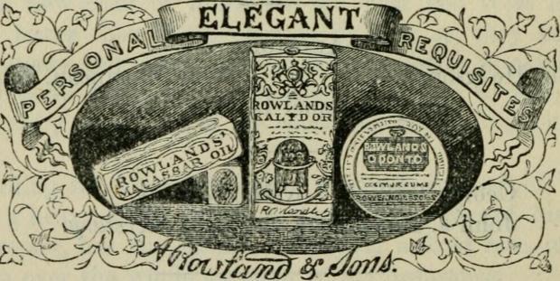 Rowlands Macassar Oil Advertisement, 1862.