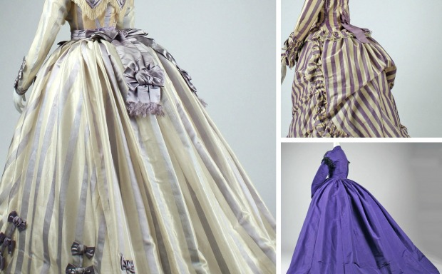 1860s in Fashionable Gowns Collage