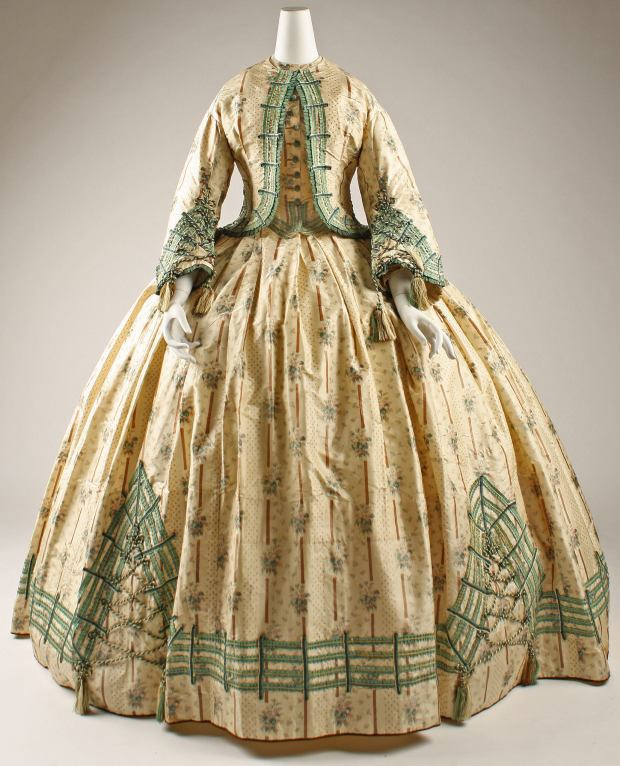 1862 French Silk Dress.(Image via Met Museum)