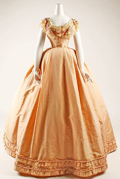 1864 French Silk Dress.(Image via Met Museum)