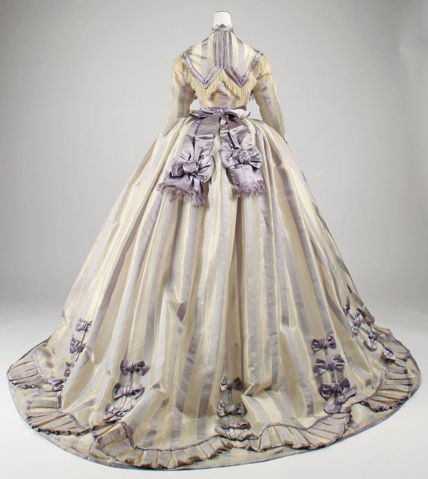 1867-69 French Silk Gown.(Image via Met Museum)