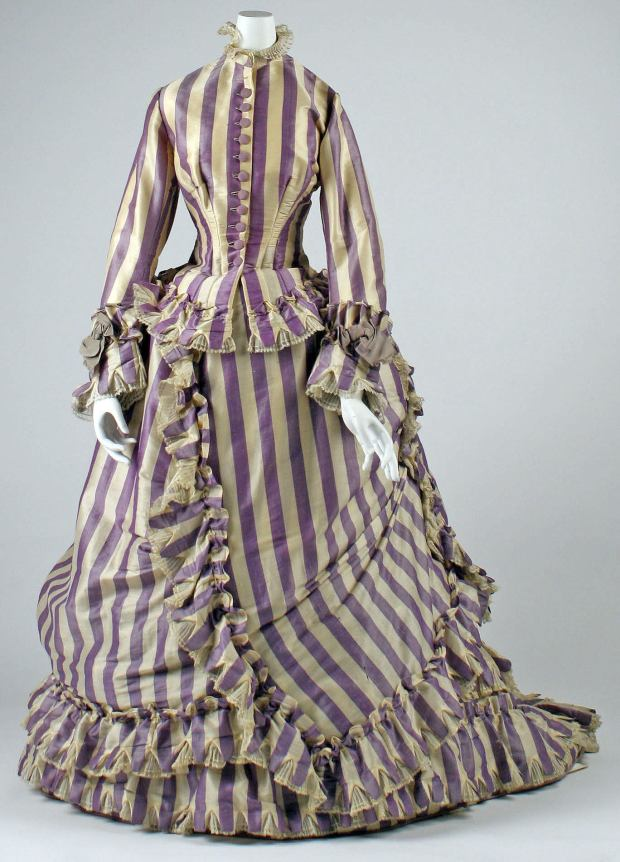 1867 French Silk Visiting Dress.( Image via Met Museum)